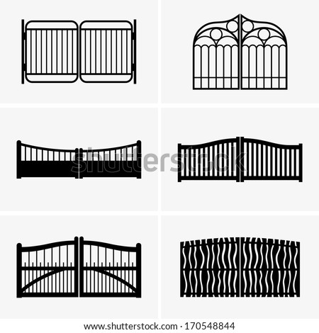 Gates - stock vector
