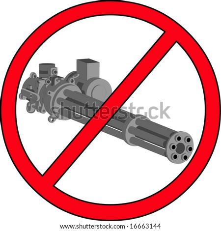 Gatlign gun cannon - stock vector