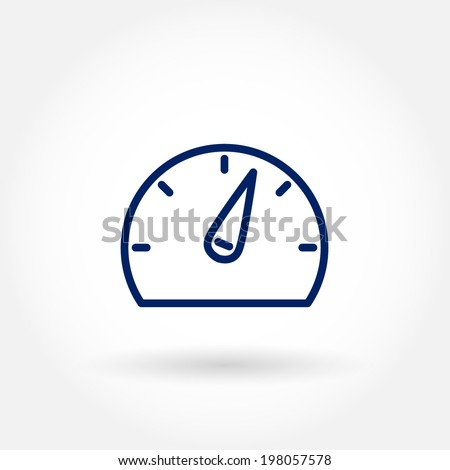 Gauge icon. Modern line icon design. Modern icons for mobile or web interface. Vector illustration.  - stock vector