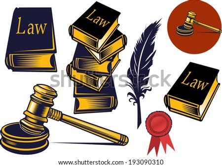 Gavel - hammer of judge or auctioneer - stock vector