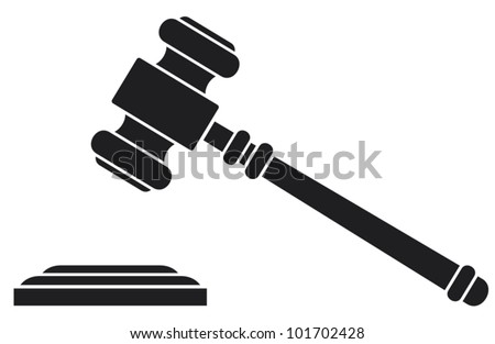 gavel - hammer of judge or auctioneer (judge gavel) - stock vector