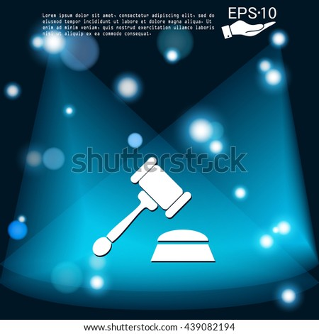 gavel. icon law. symbol of justice and judgment - stock vector