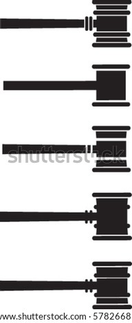Gavels - stock vector