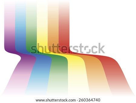 Gay background waving. Decorative element with the gay flag - stock vector