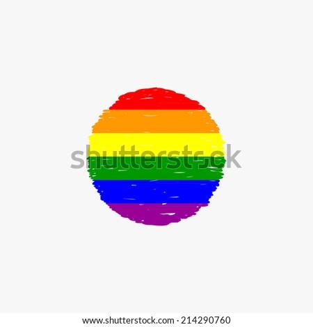 Gay flag, sketch design, vector - stock vector