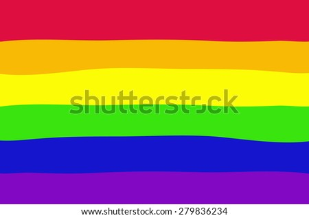 Gay flag vector illustration - stock vector