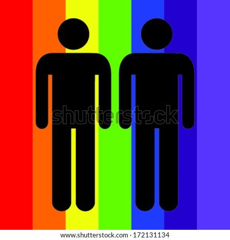 Gay Love - stock vector