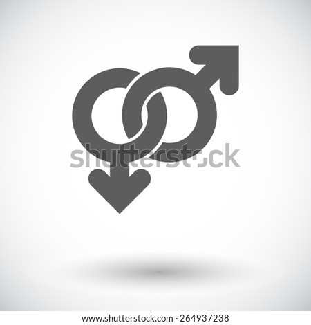 Gay sign. Single flat icon on white background. Vector illustration. - stock vector