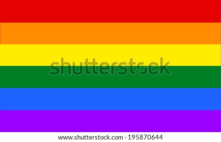 Gay vector flag or LGBT vector flag sign isolated. Gay culture symbol. - stock vector