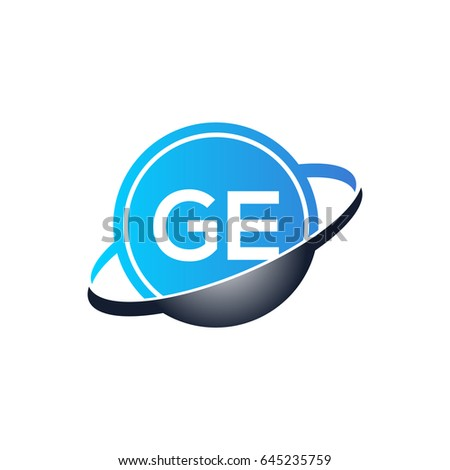 Ge Logo Stock Vector Royalty Free 645235759 Shutterstock