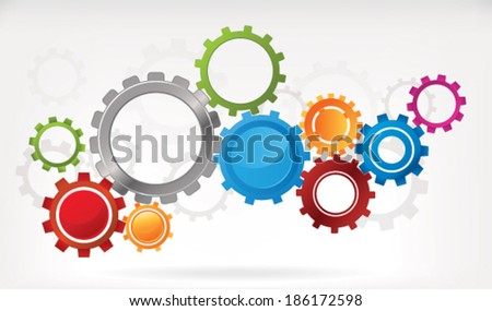 Gear Background - stock vector