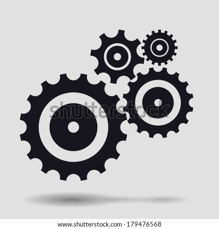 Gear collection. Set of vector gear wheels.  - stock vector
