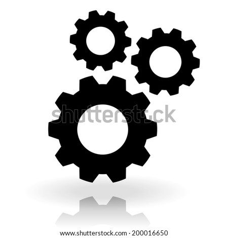 Gear composition - stock vector