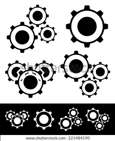 Gear compositions - stock vector