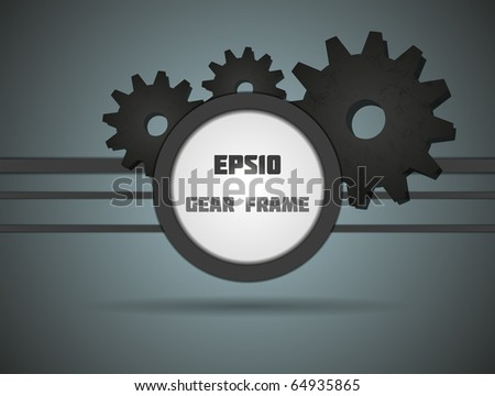 Gear frame for your design. Fully vector, enjoy! - stock vector