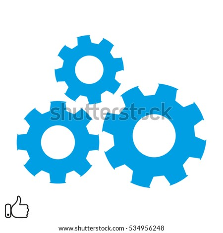 gear, hand, icon, vector illustration EPS 10