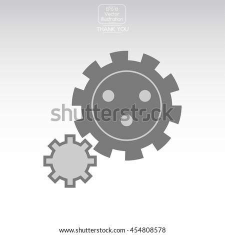 Gear icon. - stock vector