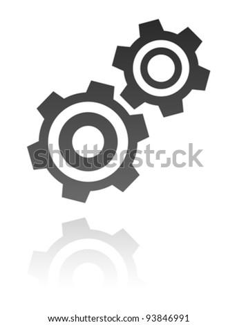 gear icon - stock vector