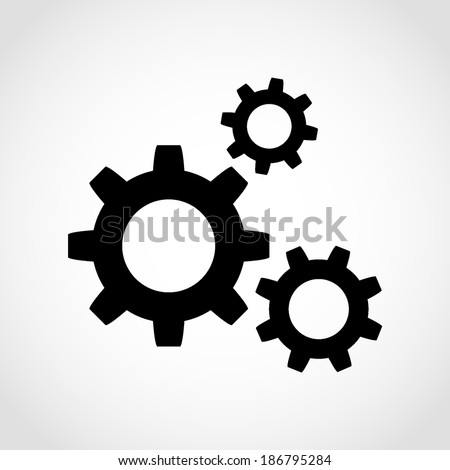 Gear Icon Isolated on White Background - stock vector