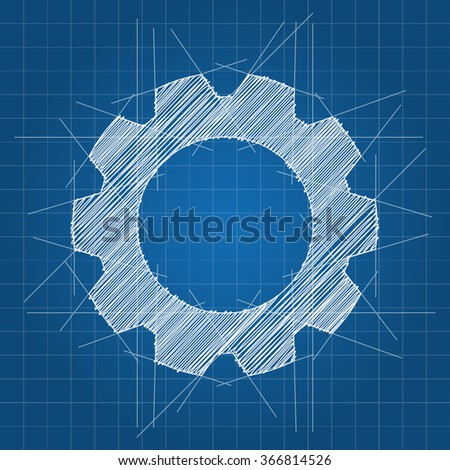 Gear icon logo sketch blueprint architect stock vector 366814526 gear icon logo sketch blueprint architect vector illustration malvernweather Gallery