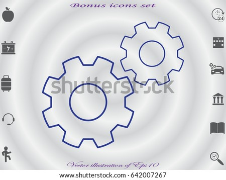 gear, icon, vector illustration eps10