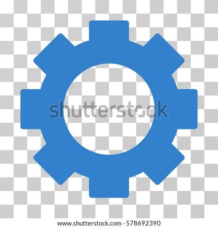 Gear Icon Transparent Blue