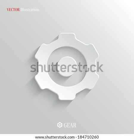 Gear icon - vector web illustration, easy paste to any background - stock vector