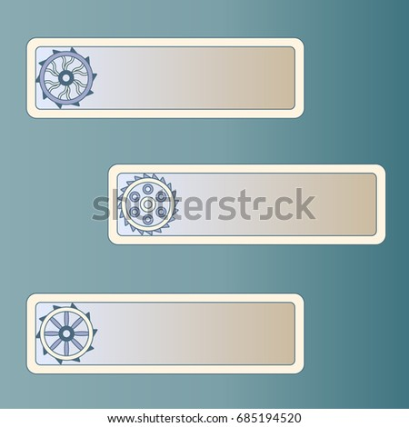 gear icon place your text steampunk stock vector 685194520