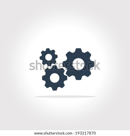 gear icon with vintage background vector art - stock vector