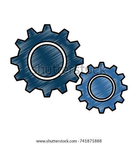 gear machine isolated icon