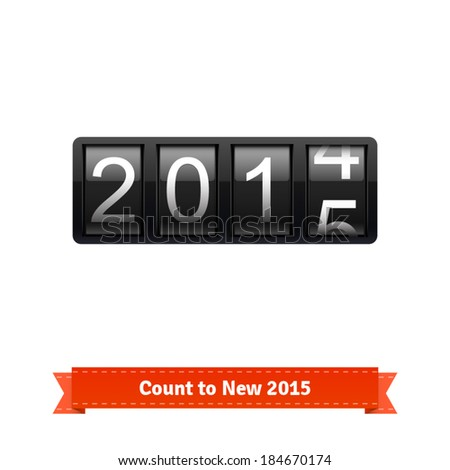 Gear number counter template for 2014-2015 countdown. Highly editable EPS10 interface elements. - stock vector
