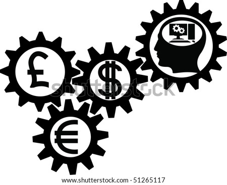gear of business. vector illustration - stock vector