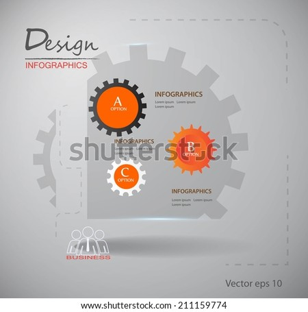 gear on abstract background  - stock vector