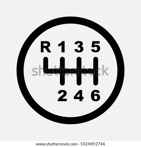 Gear Shifter Car Transmission Icon Speed Stock Vector 1024892746