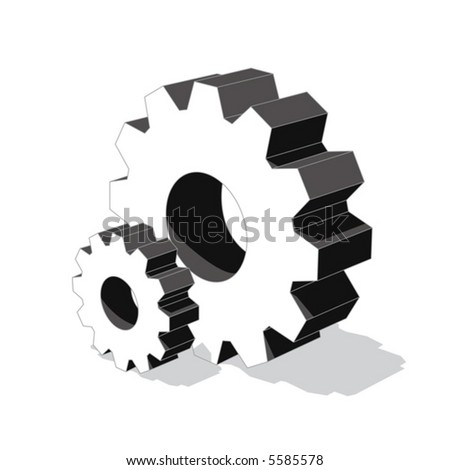 gear (vector) - stock vector