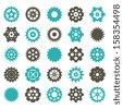 Gear Vector set - Color - stock vector