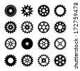 Gear wheel icons set 2 - stock vector
