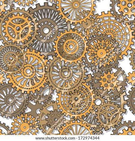 gear wheels - stock vector