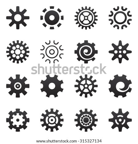 Gears and cogwheel icons set vector illustration