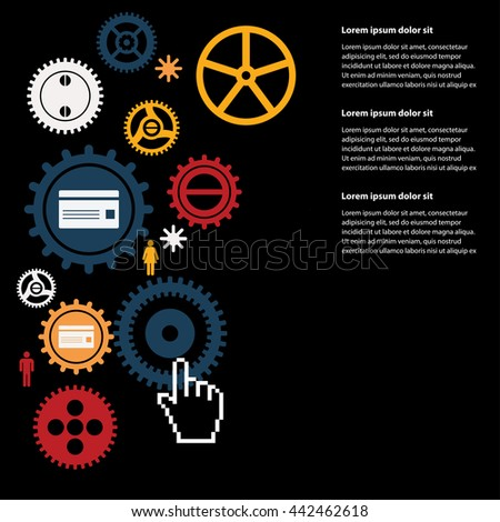 gears background - stock vector