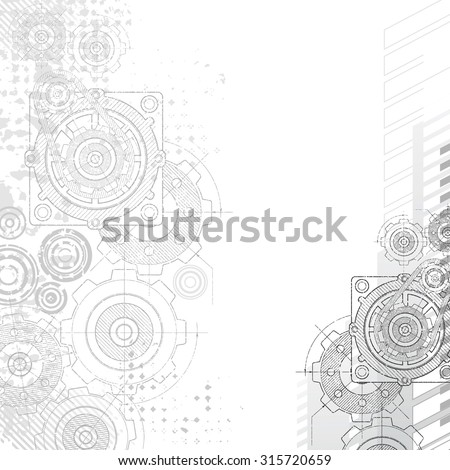 Gears background under construction blueprint vector de gears background under construction blueprint malvernweather Image collections