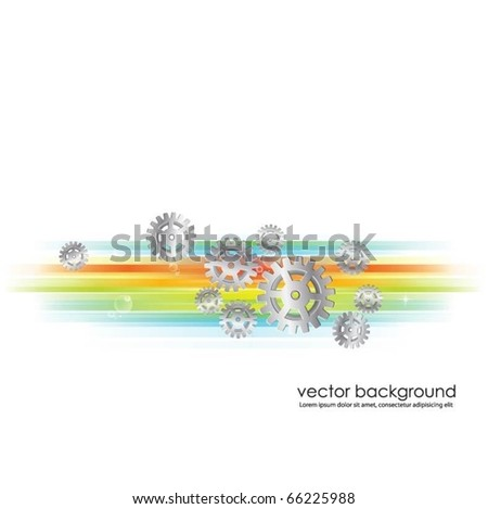 gears background vector - stock vector