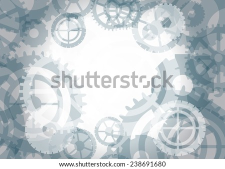 Gears background, vector illustration - stock vector
