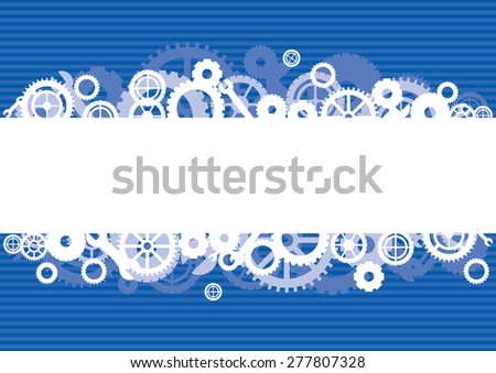 Gears background, vector illustration - stock vector