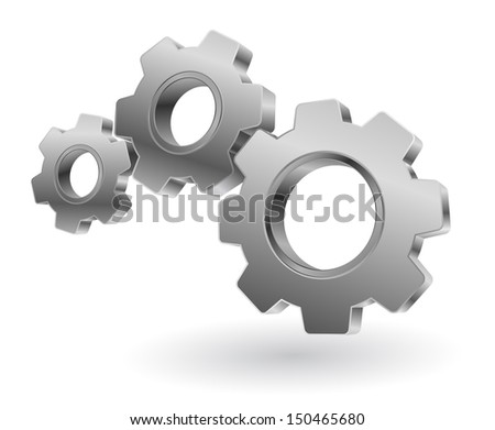 gears 3d - stock vector