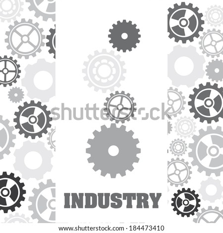Gears design over pattern background, vector illustration