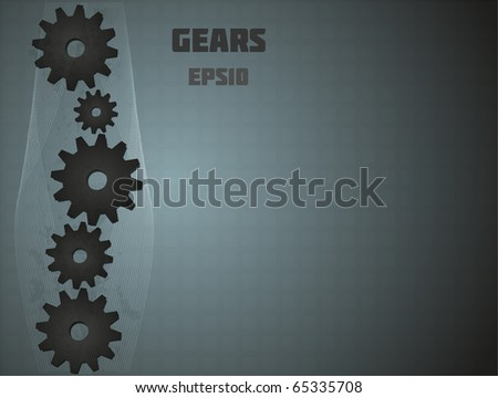 Gears for your design. Fully vector, enjoy! - stock vector