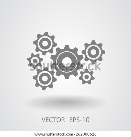 Gears icon - stock vector