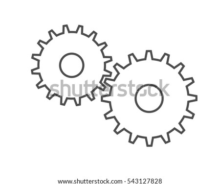 Gears icon design vector on isolated white background.
