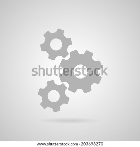 Gears icon. Vector - stock vector